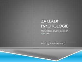 Základy Psychológie