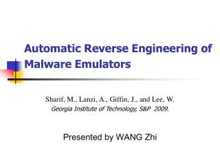 Automatic Reverse Engineering of Malware Emulators