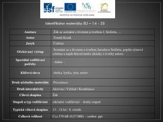 Identifikátor materiálu: EU – 14  - 35