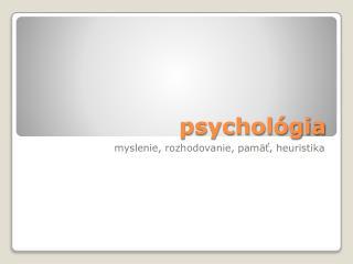 psychol�gia