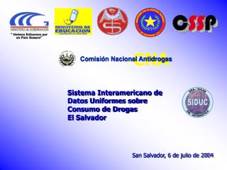 Sistema Interamericano de Datos Uniformes sobre Consumo de Drogas El Salvador