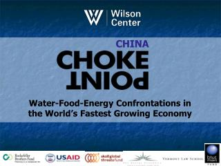 Water-Food-Energy Confrontations in  the World's Fastest Growing Economy