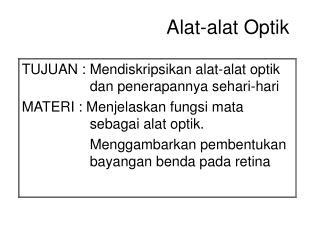 Alat-alat Optik