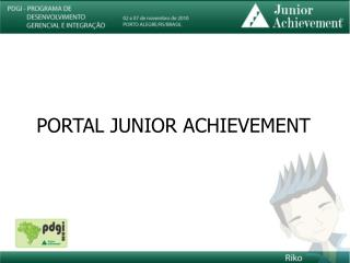 PORTAL JUNIOR ACHIEVEMENT