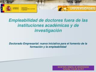 Empleabilidad  de doctores fuera de las instituciones académicas y de investigación