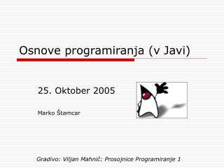 Osnove programiranja (v Javi)