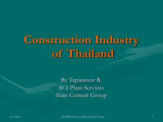 Construction Industry  of Thailand
