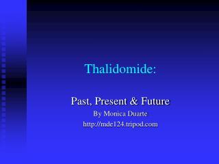 Thalidomide:
