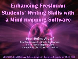 Enhancing Freshman Students' Writing Skills with a Mind-mapping Software