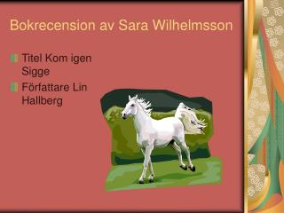 Bokrecension av Sara Wilhelmsson