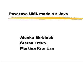 Povezava UML modela z Javo