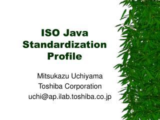 ISO Java Standardization Profile