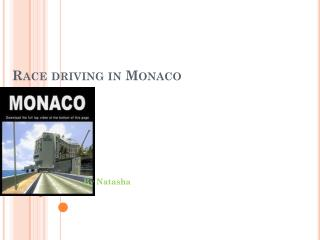 Race driving in Monaco