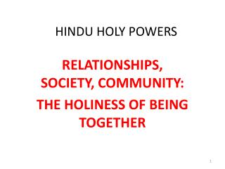 HINDU HOLY POWERS
