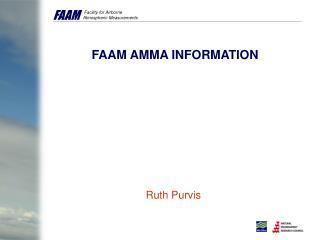 FAAM AMMA INFORMATION