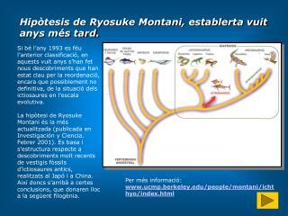Hip�tesis de Ryosuke Montani, establerta vuit anys m�s tard.