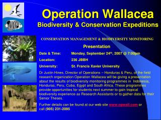 Operation Wallacea Biodiversity & Conservation Expeditions