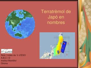 Terratrèmol de Japó en nombres
