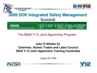 2009 DOE Integrated Safety Management Summit