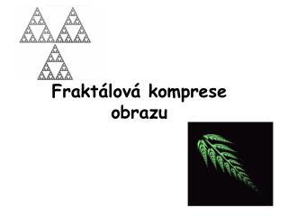 Fraktálová komprese obrazu