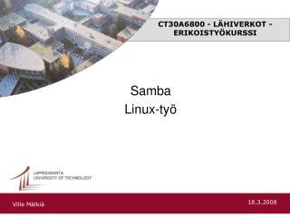CT30A6800 - LÄHIVERKOT -ERIKOISTYÖKURSSI