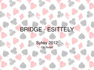 BRIDGE - ESITTELY