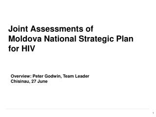 Joint Assessments of  Moldova National Strategic Plan for HIV