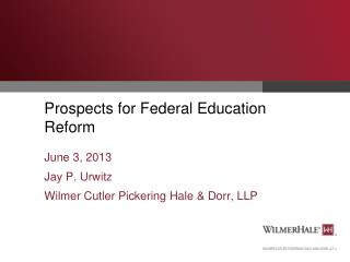 Prospects for Federal Education Reform