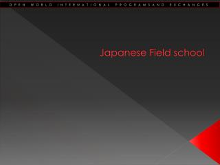 Japanese Field school
