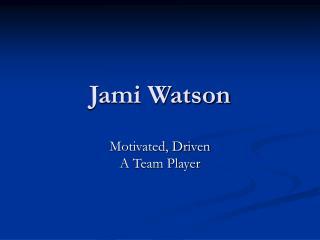 Jami Watson
