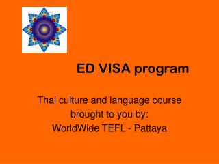 Thai Course Program