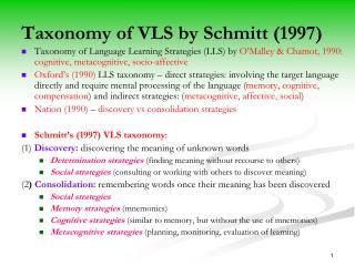 Taxonomy of VLS by  Schmitt (1997)