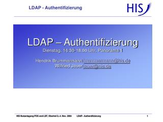 LDAP - Authentifizierung