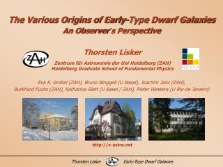 The Various Origins of Early-Type Dwarf Galaxies An Observer´s Perspective