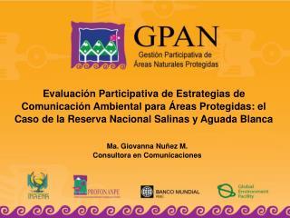 Ma. Giovanna Nuñez M. Consultora en Comunicaciones