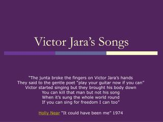 Victor Jara's Songs