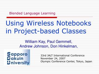 Using Wireless Notebooks in Project-based Classes
