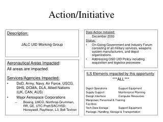 Action/Initiative