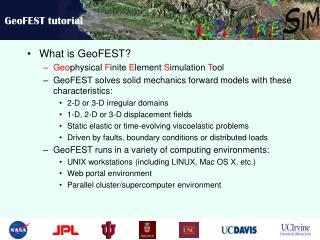 GeoFEST tutorial