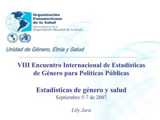 VIII Encuentro Internacional de Estadísticas de Género para Políticas Públicas