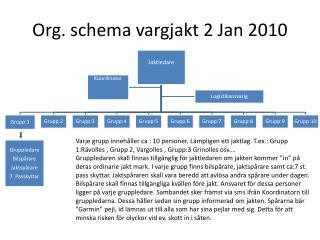 Org. schema vargjakt 2 Jan 2010
