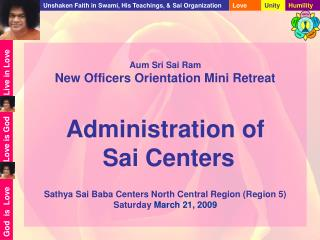 Purpose of Sai Organization