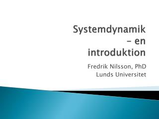Systemdynamik – en  introduktion