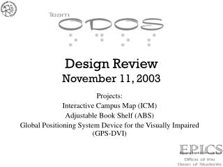 Design Review November 11, 2003