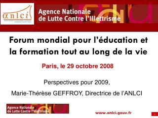 Paris, le 29 octobre 2008