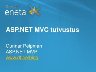 ASP.NET MVC tutvustus