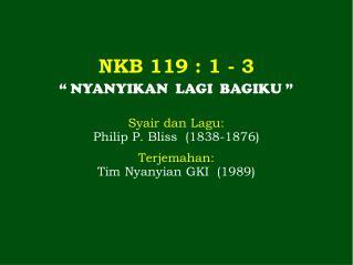 NKB 119 :  1 - 3