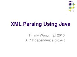 XML Parsing Using Java