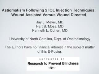 Astigmatism Following 2 IOL Injection Techniques: Wound Assisted Versus Wound Directed