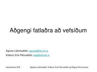 Aðgengi fatlaðra að vefsíðum